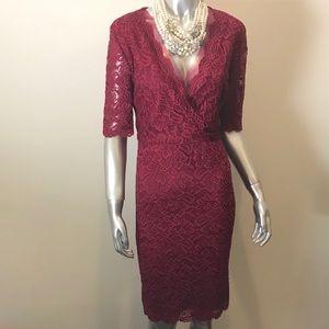 NWT Ivanka Trump Red Lace Dress